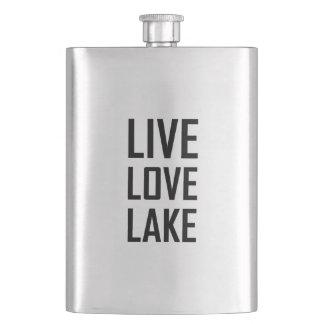 Live Love Lake Hip Flask