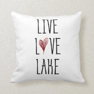 Live Love Lake Throw Pillow
