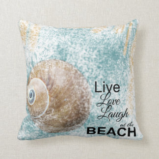 Live, Love, Laugh At The Beach | Throw Pillow