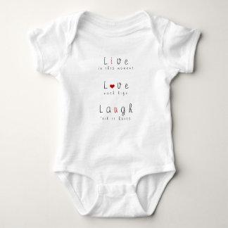 Live, Love, Laugh Baby Bodysuit