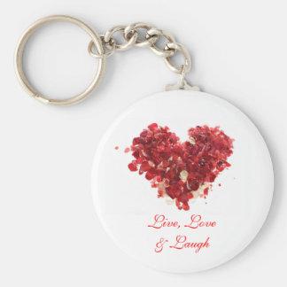 Live, Love & Laugh Basic Round Button Keychain