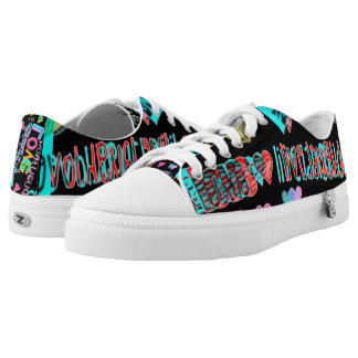live love laugh customizable neon low tops