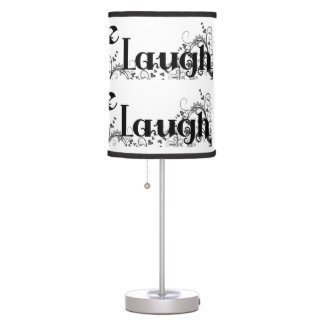 LIVE LOVE LAUGH Design Desk or Bedroom Table Lamp