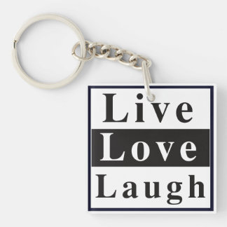 Live Love Laugh Double-Sided Square Acrylic Keychain
