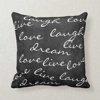 live love laugh dream typography pillow
