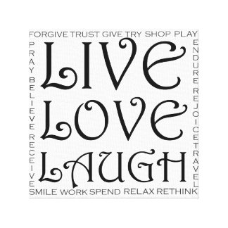 Live love laugh inspiration canvas print