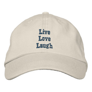 Live Love Laugh Inspirational Embroidered Baseball Caps