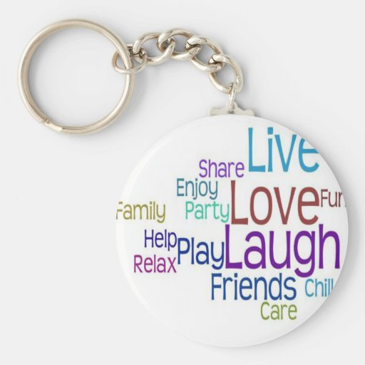 Live Love Laugh Keychain