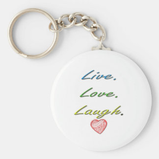 Live Love Laugh Keychain