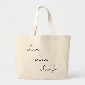 live love laugh large tote bag