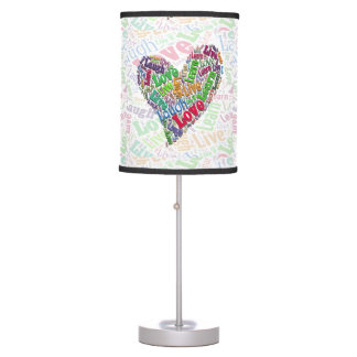 Live, Love, Laugh, Learn Table Lamp