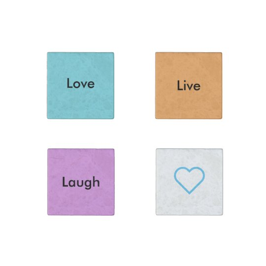 Live Love Laugh Magnets Stone Magnets