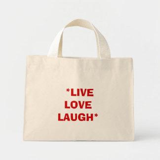 *LIVE   LOVE   LAUGH* MINI TOTE BAG
