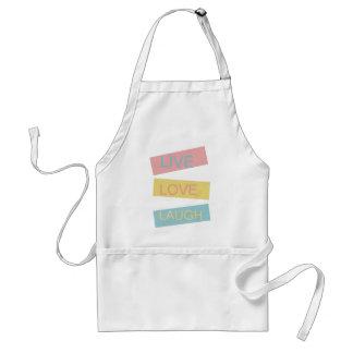 Live love laugh motivational graphic design standard apron