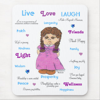 Live Love Laugh Mouse Pad