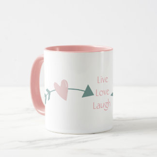 Live Love Laugh Mug With Heart And Arrow