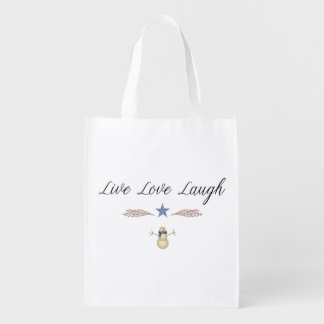 Live Love Laugh Reusable Bag