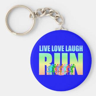 live love laugh run basic round button keychain