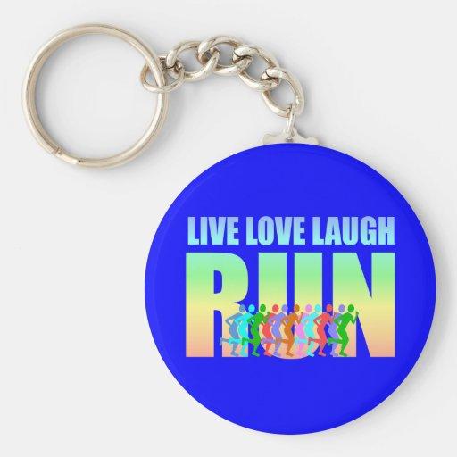 live love laugh run key chains