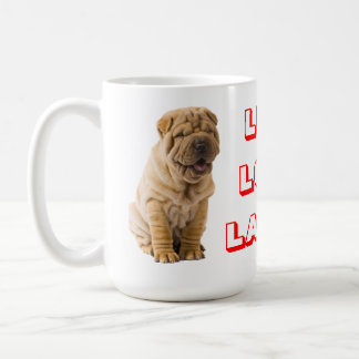 Live, Love, Laugh Sharp Pei Puppy Dog Coffee Mug