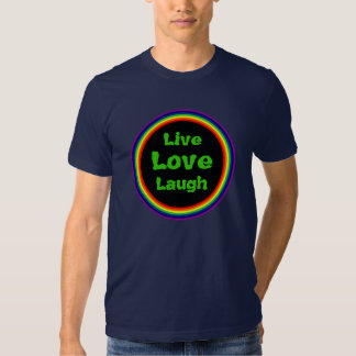 Live, Love, Laugh T-shirts (1) Green Text