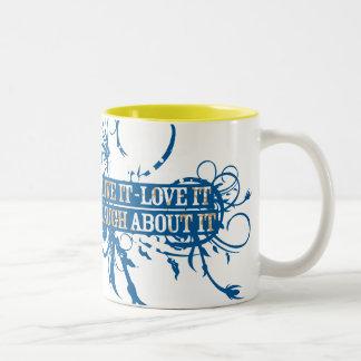 Live, Love, Laugh Two-Tone Coffee Mug