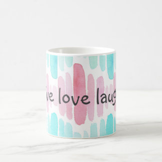 Live Love Laugh Watercolor Mug