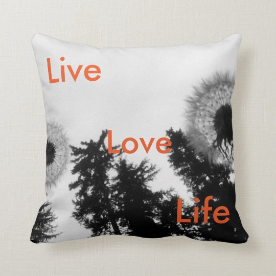 Live, Love, Life cushion