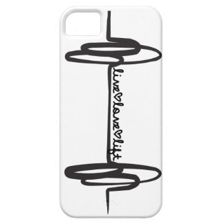Live Love Lift Doodle Black Case For The iPhone 5
