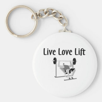 Live Love Lift Keychain