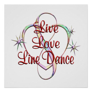Live Love Line Dance Poster