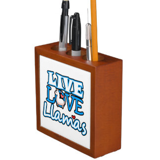Live Love Llamas Desk Organizer