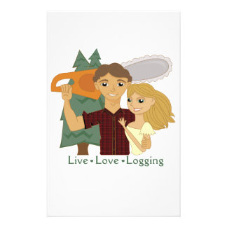 Live Love Logging Stationery