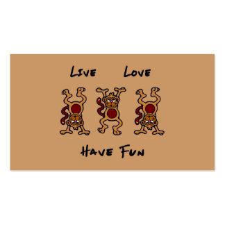 Live Love Monkey Business Card