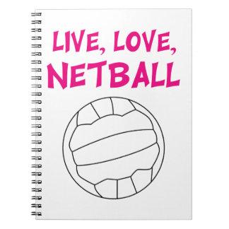 Live Love Netball Notebooks