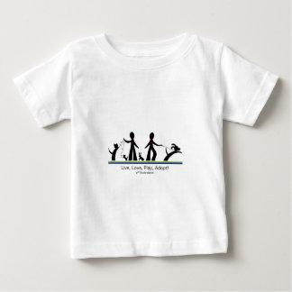 Live, Love, Play, Adopt! Baby T-Shirt
