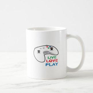 LIVE LOVE PLAY CLASSIC WHITE COFFEE MUG