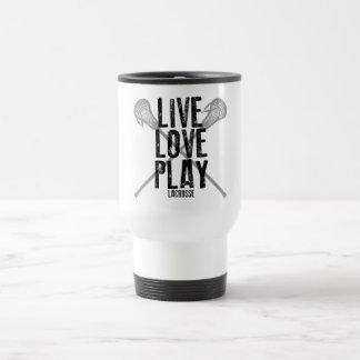 Live, Love, Play Lacrosse Stainless Steel Travel Mug