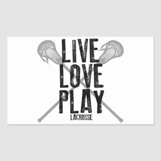 Live, Love, Play Lacrosse Sticker