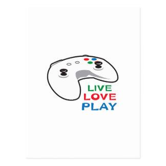 LIVE LOVE PLAY POSTCARD