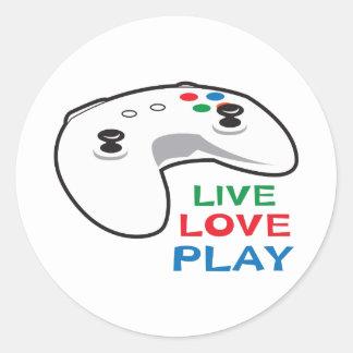 LIVE LOVE PLAY ROUND STICKER