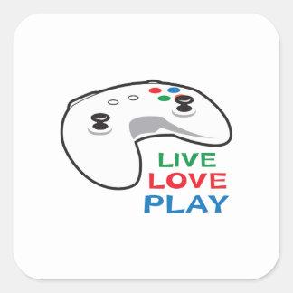 LIVE LOVE PLAY SQUARE STICKER