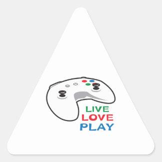 LIVE LOVE PLAY TRIANGLE STICKER