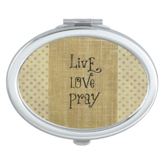 Live Love Pray Christian Quote Affirmation Vanity Mirror