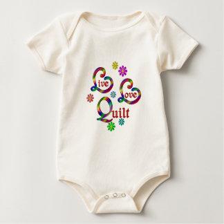 Live Love Quilt Baby Bodysuit