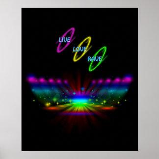 Live Love Rave Poster