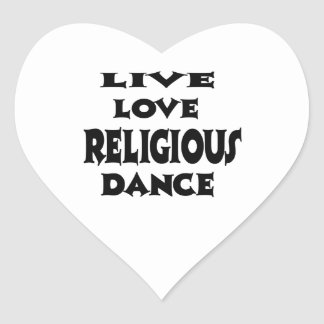Live Love Religious Heart Stickers