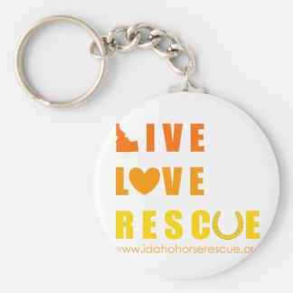 Live Love Rescue Idaho Horse Rescue Keychain