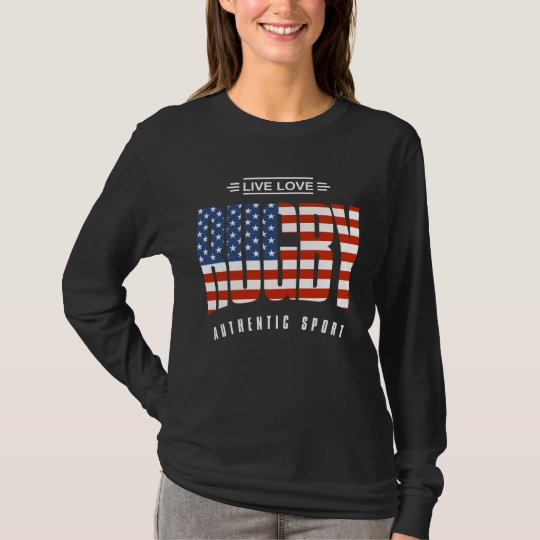 Live Love Rugby USA T-Shirt