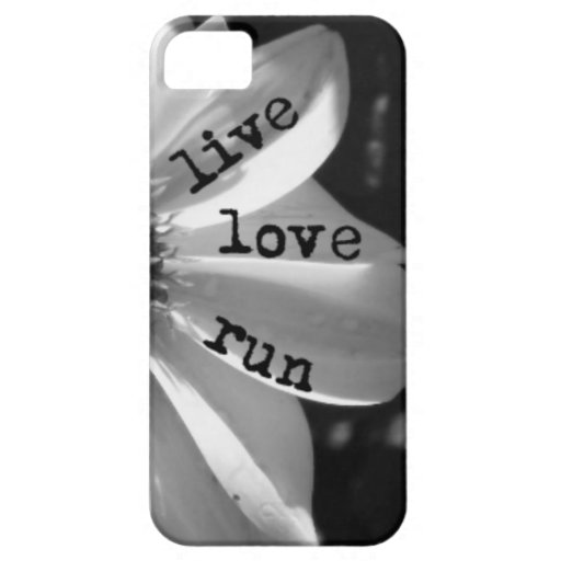 Live Love Run by Vetro Designs iPhone 5/5S Cases